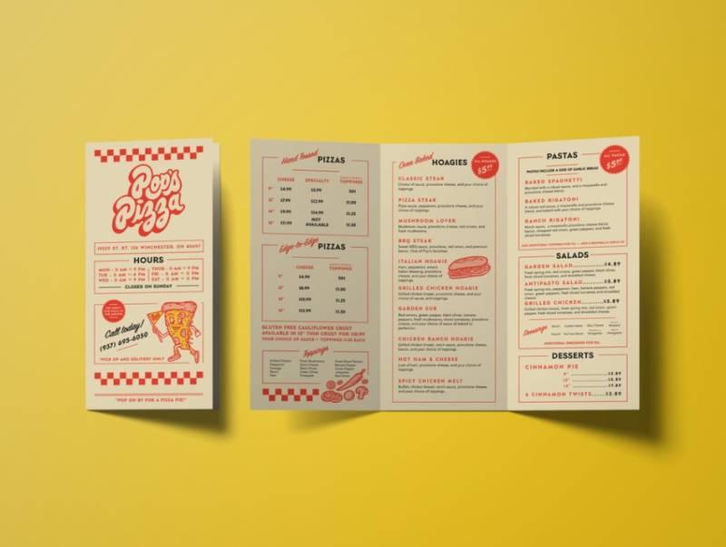 Pizzeria Brochure Design Example