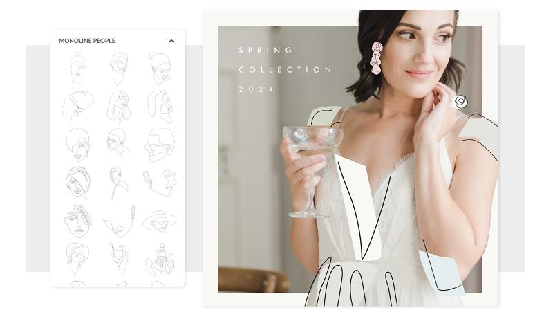 04 fashion collage monoline