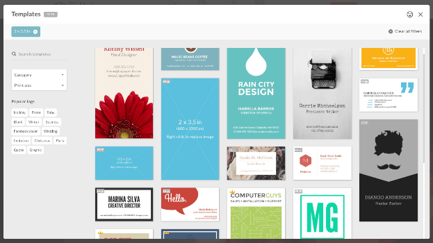 Choose from a variety of PicMonkey templates for your project.