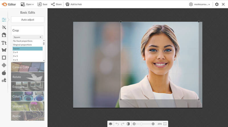 crop, basic edits, photo editing, photo retouching, portrait, picmonkey