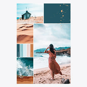 Summer Beach Collage - Photo Collage Template