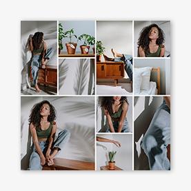 Créateur de collage photo : modèle de collage denim