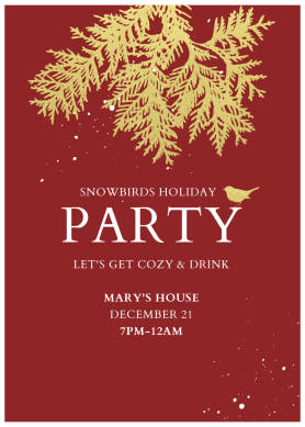 Snowbirds Holiday Party christmas card template