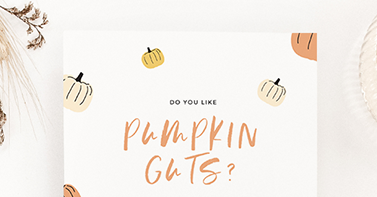 DIY Halloween invites