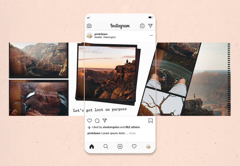 Make a seamless instagram post tutorial