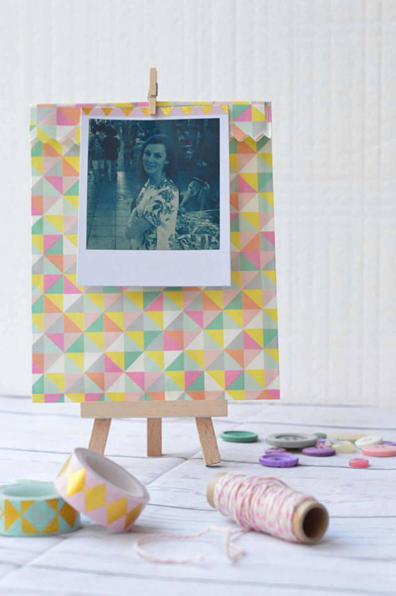 Daydreaming Bride se inventó estos recuerdos de boda usando el marco Polaroid de PicMonkey.