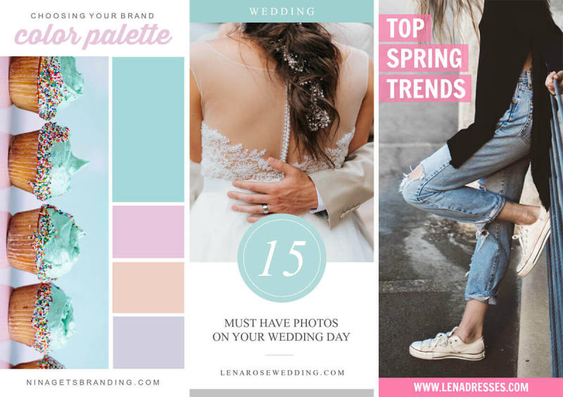 PicMonkey has a whole host of fabulous new templates to help you create gorgeous Pinterest pins.