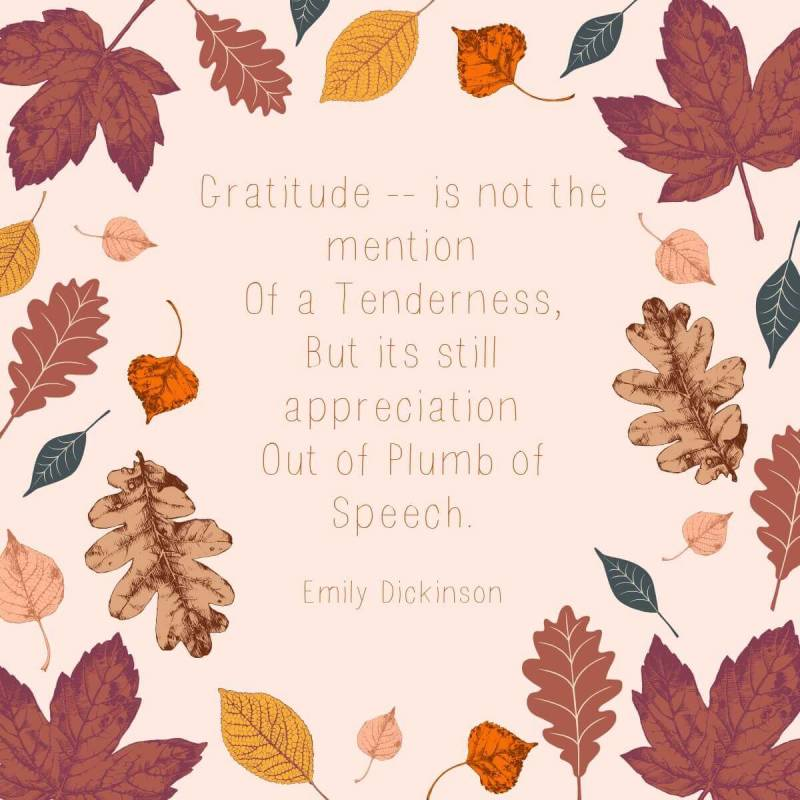 Emily Dickinson poems make for great Thanksgiving quotes. PicMonkey shows you how.