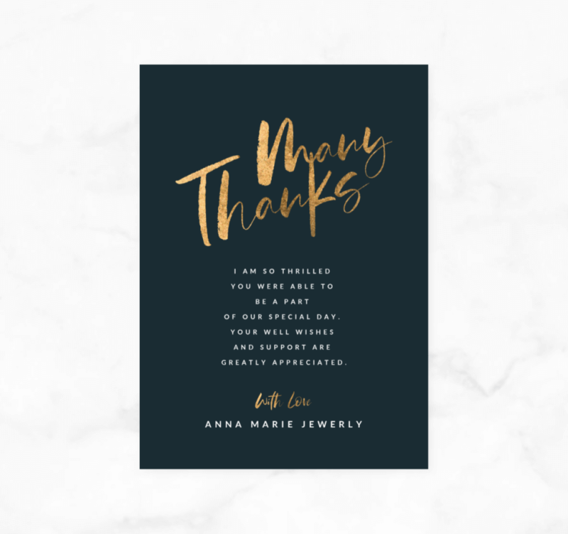 This glittery thank you card will let people know how much you appreciate them.