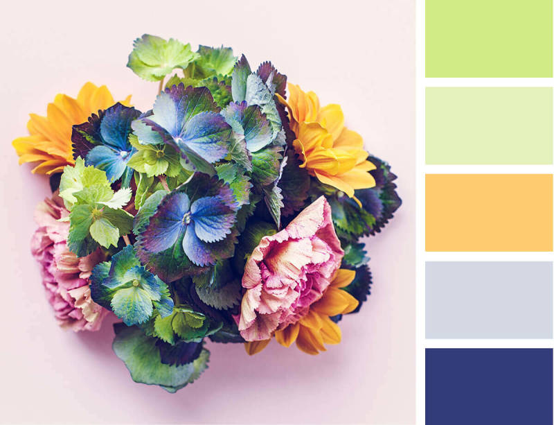 design trends, spring, color palette, jewel tones, collage, design