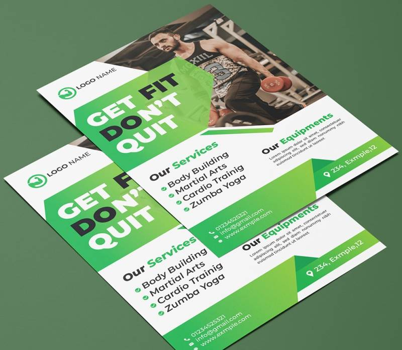 Gym with Slogan Brochure Design Example