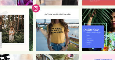 Use PicMonkey's collage maker tools to create Instagram collage posts.