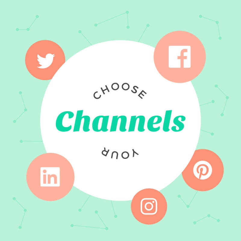choose which social media platforms you want to post on for social media marketing