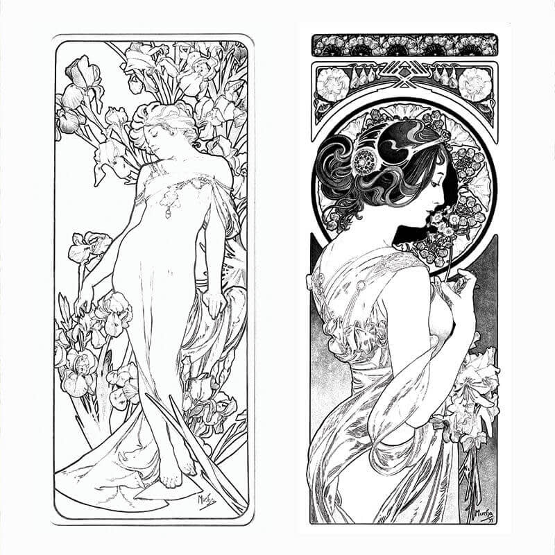 Make an adult coloring book full of flourishes and complex shapes when you reimagine vintage arts.