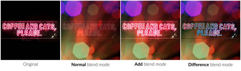 coffee and cats blend modes