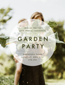 Community Garden Party poster template