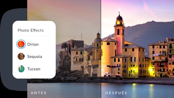 Foto de antes y después usando las herramientas de edición de fotos de PicMonkey.