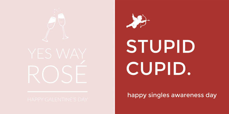 Funny Valentine's Day card templates for singles from PicMonkey.