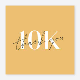 yellow 10k instagram post