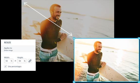 ¿Cuál es la diferencia entre recortar y redimensionar una foto?