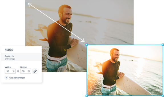 how to resize an image without cropping it online