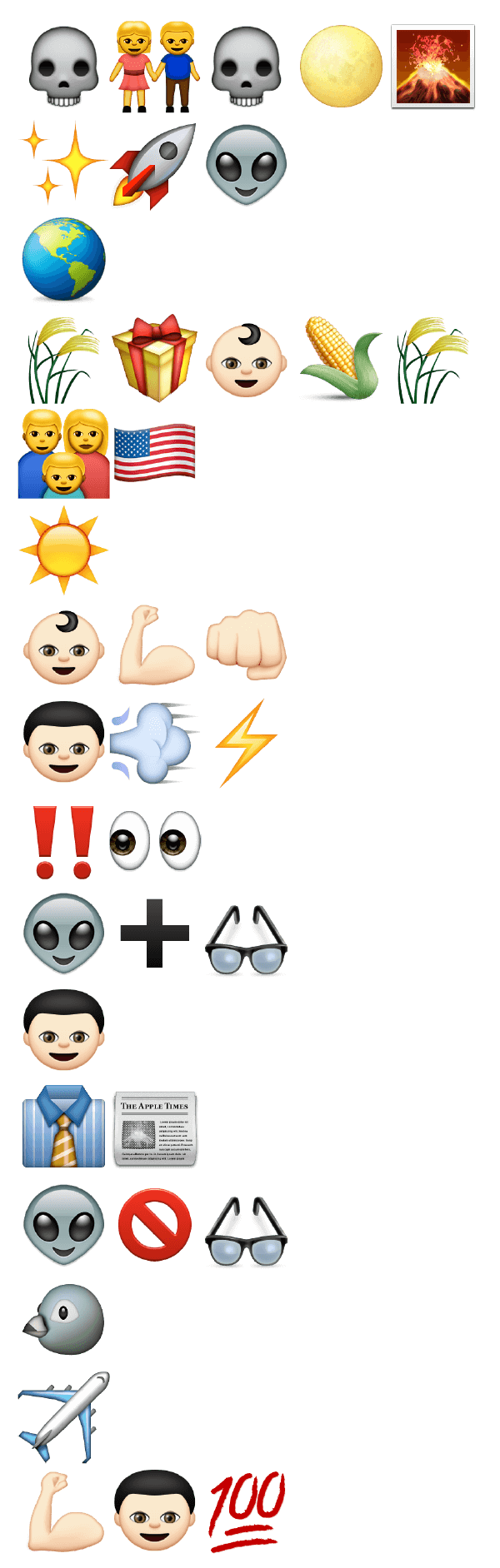 10 Superhero Origin Stories Told with Emoji
