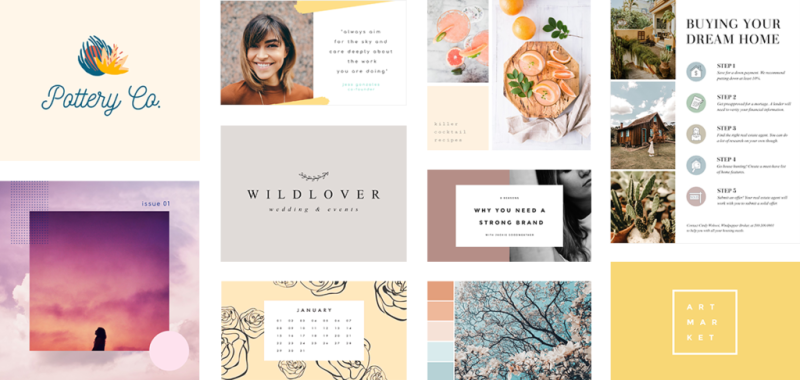 Templates make designing your visuals quick and easy
