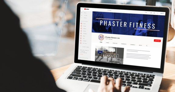 phaster fitness YouTube banner