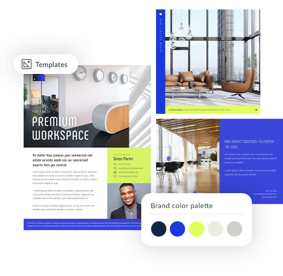 brand kit real estate templates and brand color palette