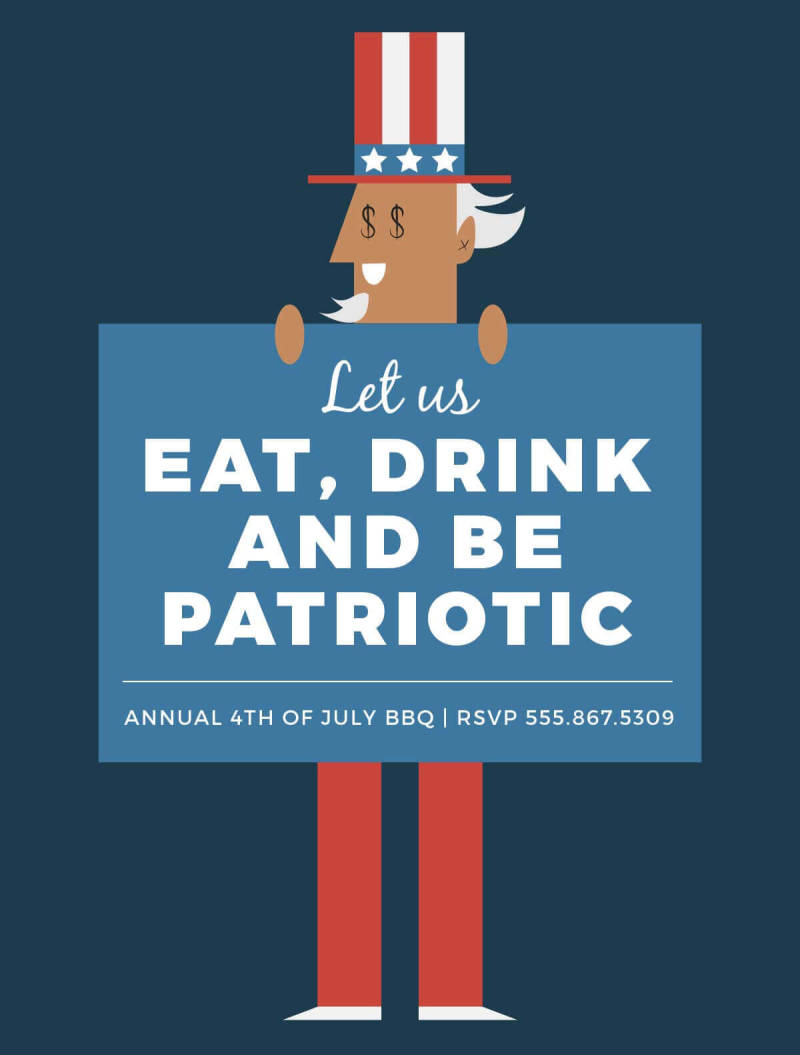 Create beautiful Independence Day party invitations with PicMonkey's new 4th of July graphics.