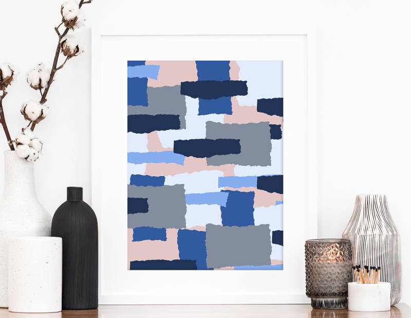 make an abstract pattern with ripped paper graphics
