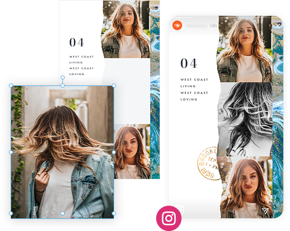designing your Instagram story with templates