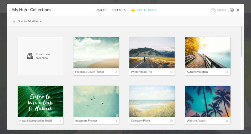 Supremium's Folders feature allows you to organize your photos into handy buckets within Hub.