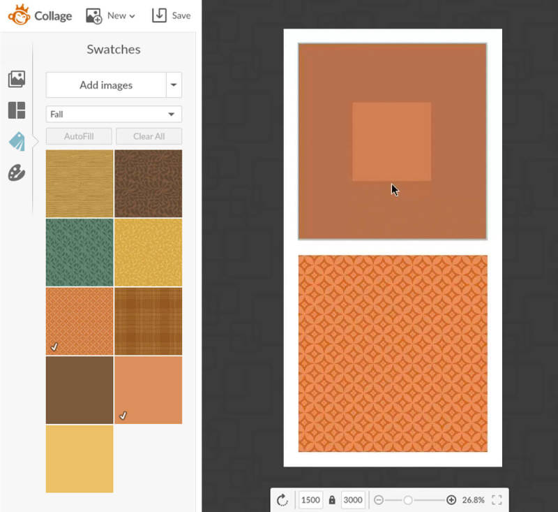 Add swatches to your Thanksgiving printables with PicMonkey.
