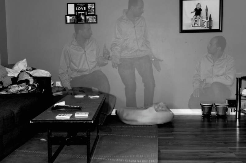 Is there a ghost in my house? In this double exposure by photographer Kobie Mercury-Clarke, there's three!