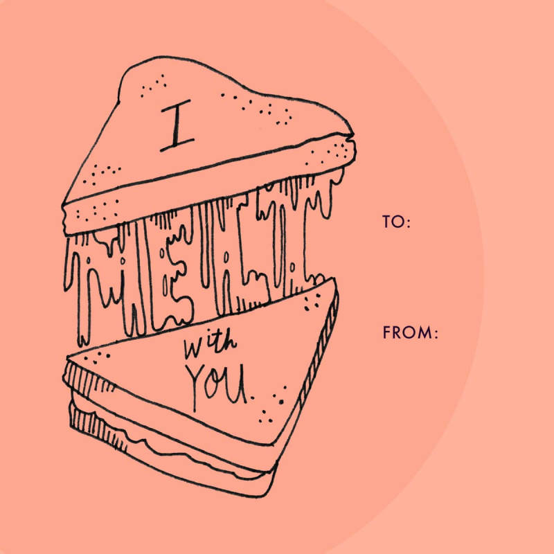Valentine's Day cards made with Jordan Kay's free illustrations.