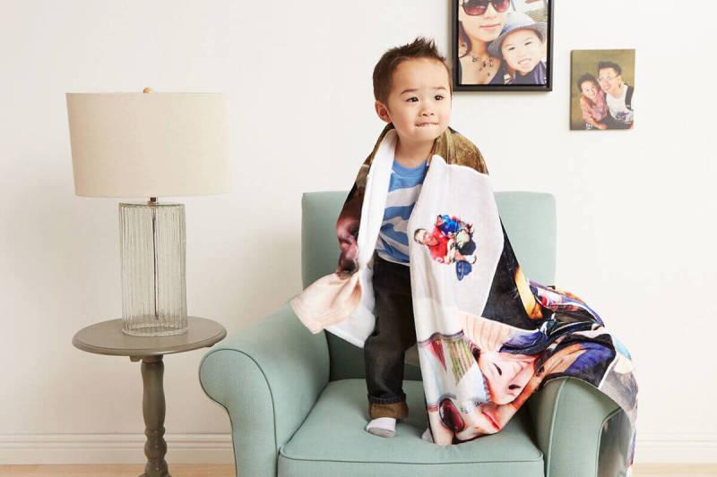Photo gifts, blanket, custom, design, PicMonkey