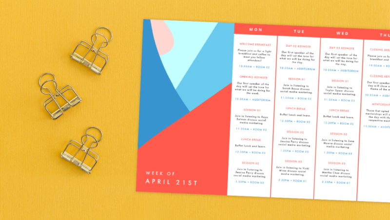 These weekly calendar templates are great for planning events.