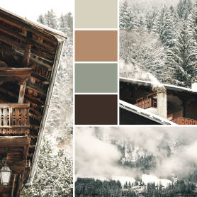 Waterfall palette Instagram post template
