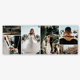 Facebook Cover Maker Wedding Ceremony Collage Template