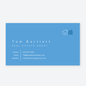 blue real estate card