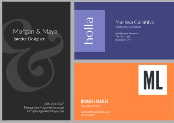 make diy business cards easily