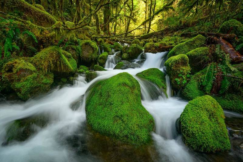 Frits Habermann's water photography from Columbia River Gorge, Oregon USA.