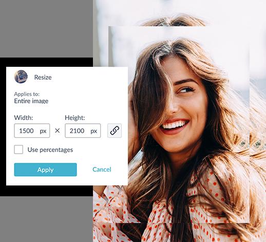 Outil de redimensionnement de PicMonkey pour le redimensionnement d'impression photo standard