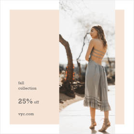Fall Collection Discount template