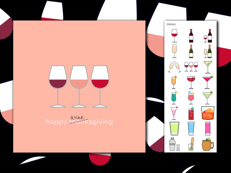 happy winesgiving instagram post