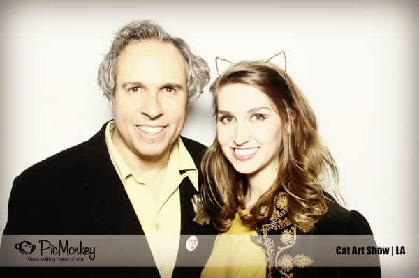 PicMonkey's photo booth at Cat Art Show LA.