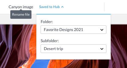 file name and folder