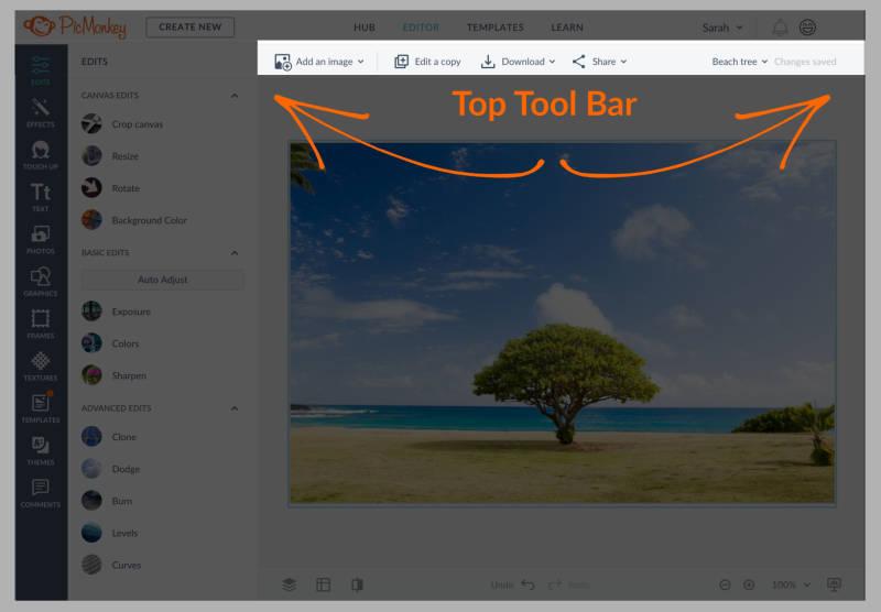 The Top Tool Bar