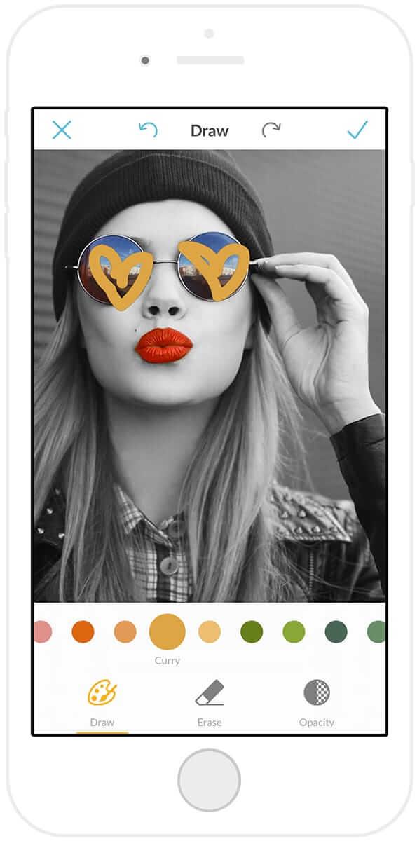Draw: the PicMonkey mobile app's secret supertool.